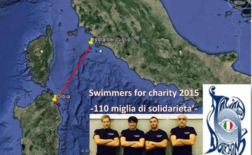 Swimmers for Charity dall'Isola del Giglio ad Olbia