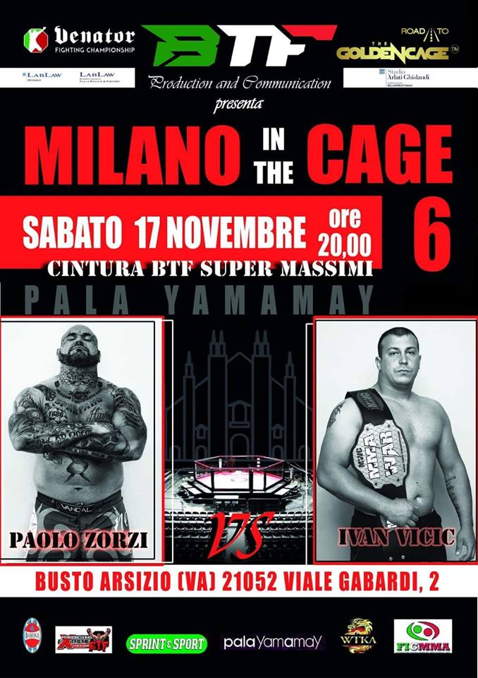 Il poster di Milano in the Cage 6